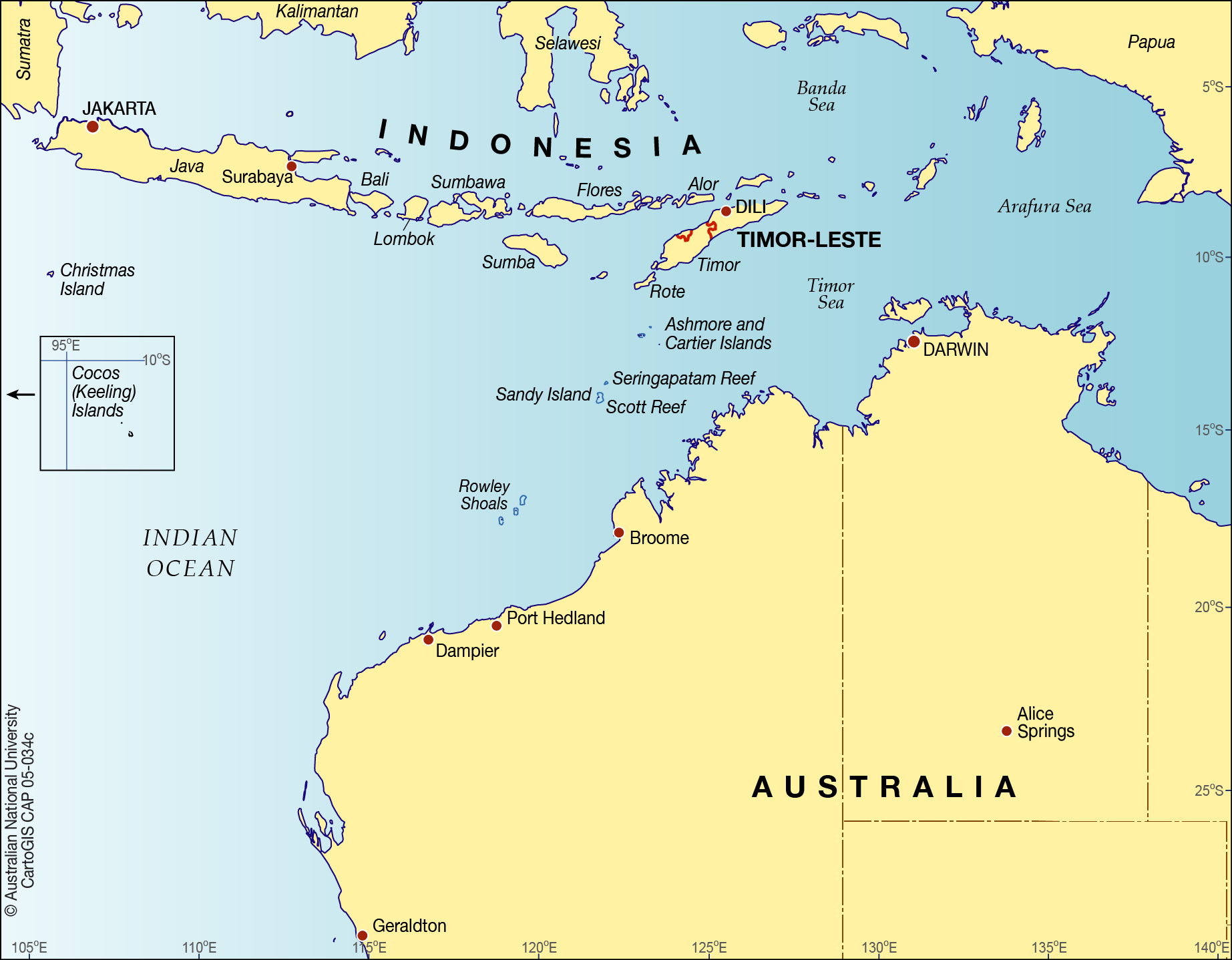 Map Of Australia Islands.Islands Of The Nw Coast Of Australia Cartogis Services Maps Online