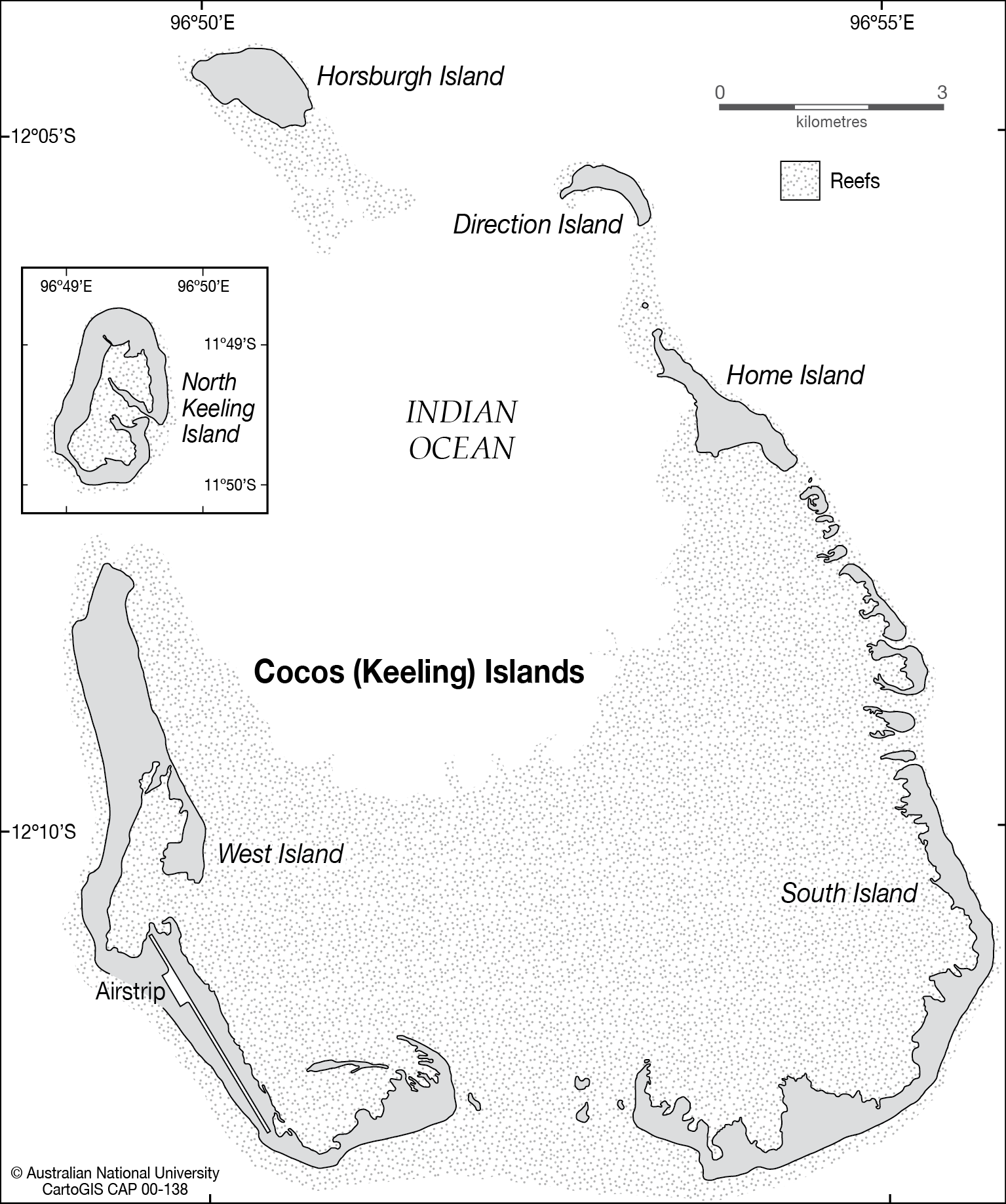 Cocos Keeling Islands CartoGIS Services Maps Online ANU