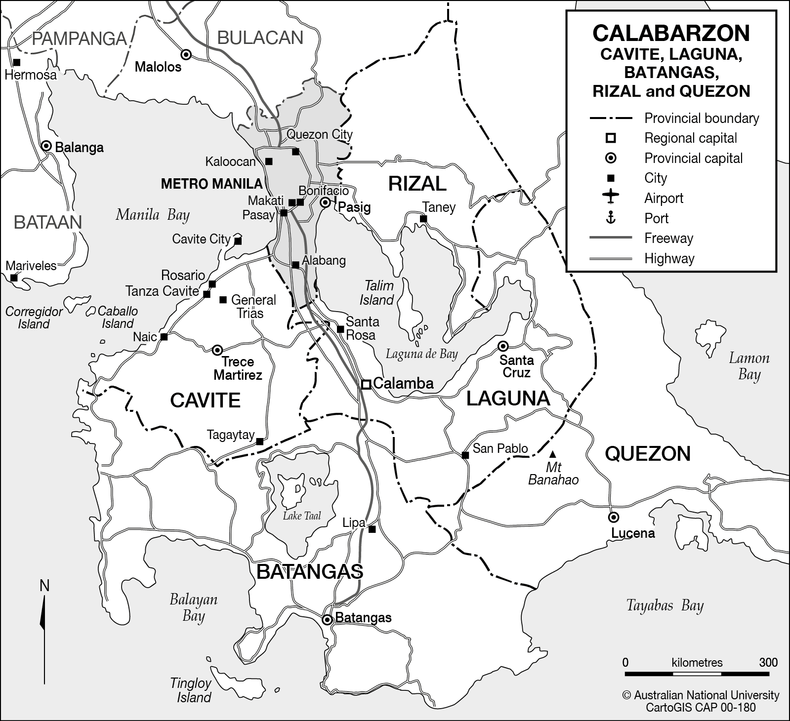 The Calabarzon Region of Luzon, Philippines   CartoGIS Services