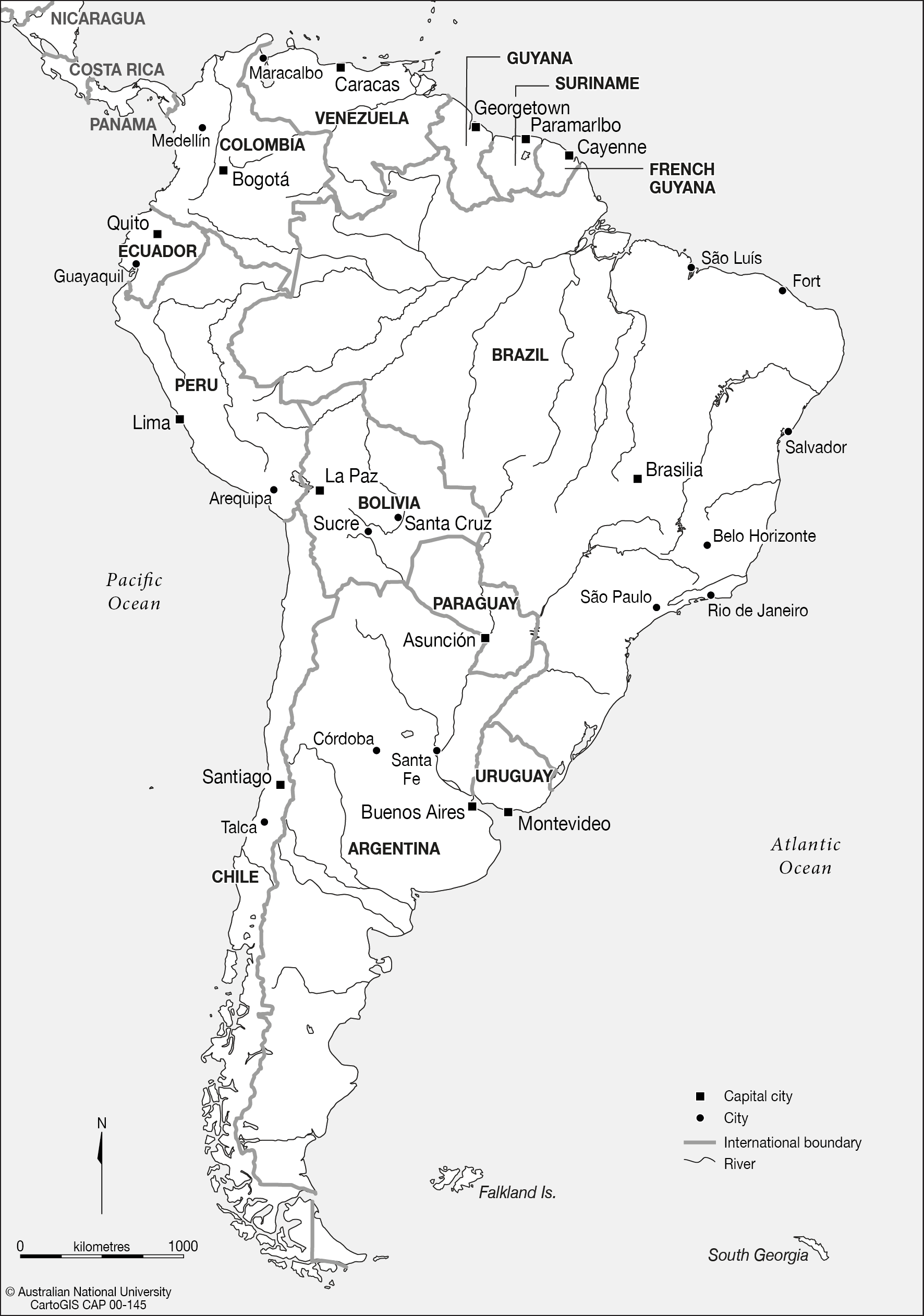 South America CartoGIS Services Maps Online ANU - Uruguay map png