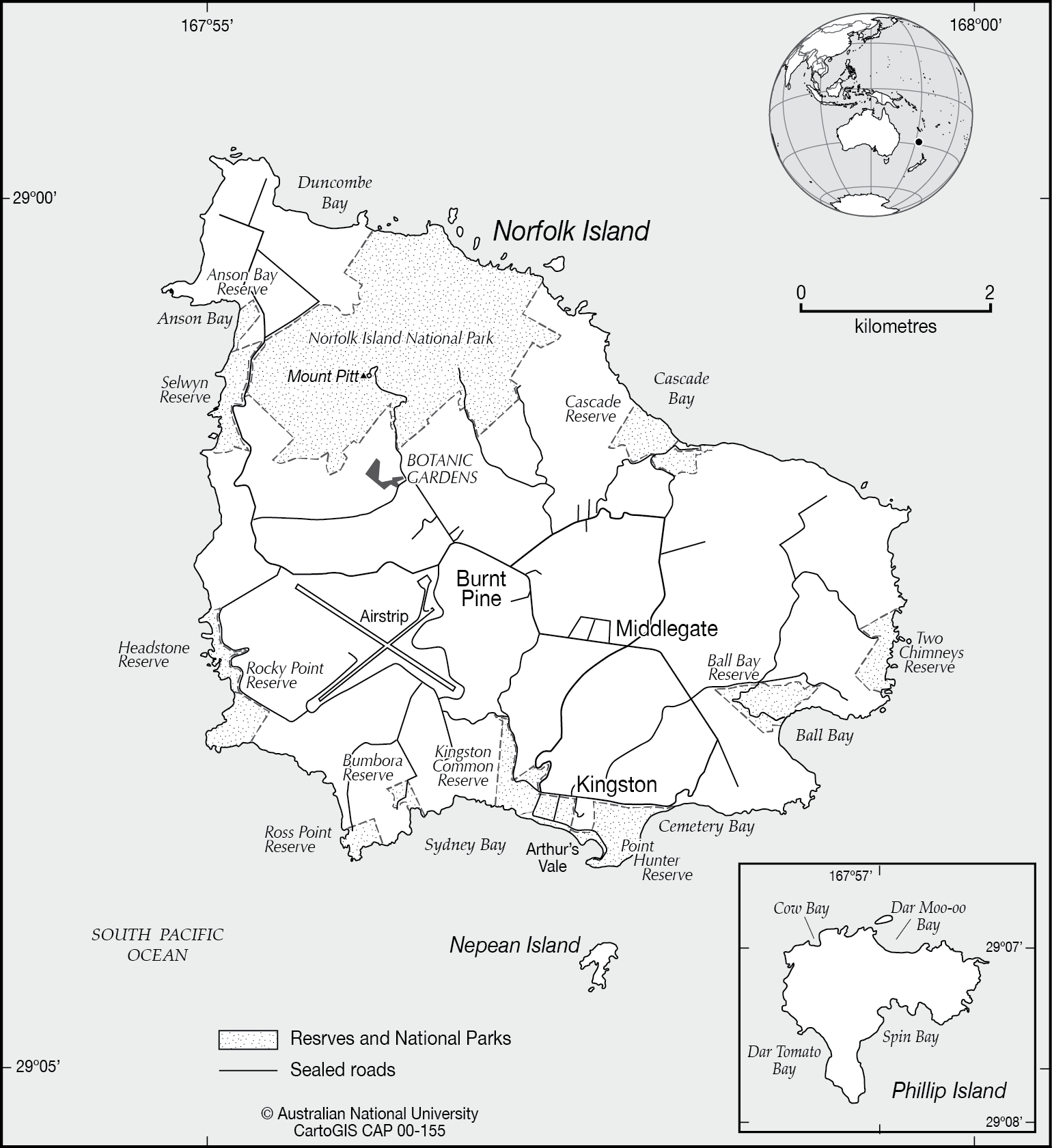 Norfolk Island CartoGIS Services Maps Online ANU