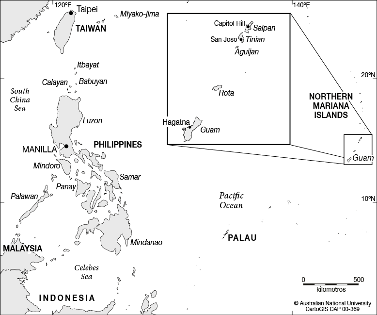 Guam and nearby islands. - CartoGIS Services Maps Online - ANU Map Guam on mariana islands, wake island, cook islands, oman map, estonia map, us territories map, ghana map, spanish-american war, united states virgin islands, puerto rico, papua new guinea, johnston atoll map, solomon islands map, panama map, northern marianas map, diego garcia map, australia map, google map, united kingdom map, usa map, pacific ocean, central america map, pacific map, japan map, new caledonia, american samoa, cuba map, northern mariana islands, alaska map, ann curry, midway island map, cnmi map,