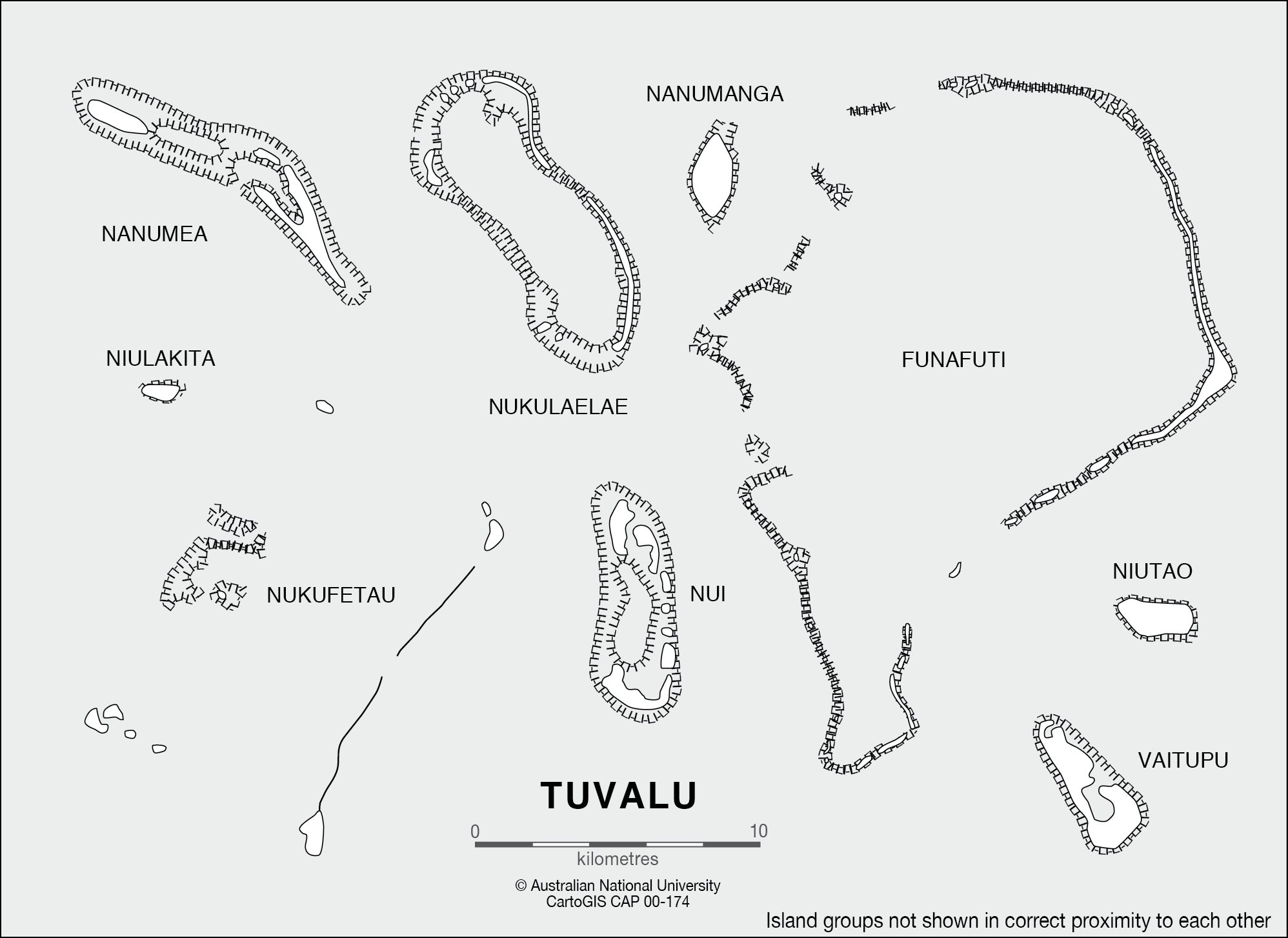Coral Atolls of Tuvalu CartoGIS Services Maps Online ANU