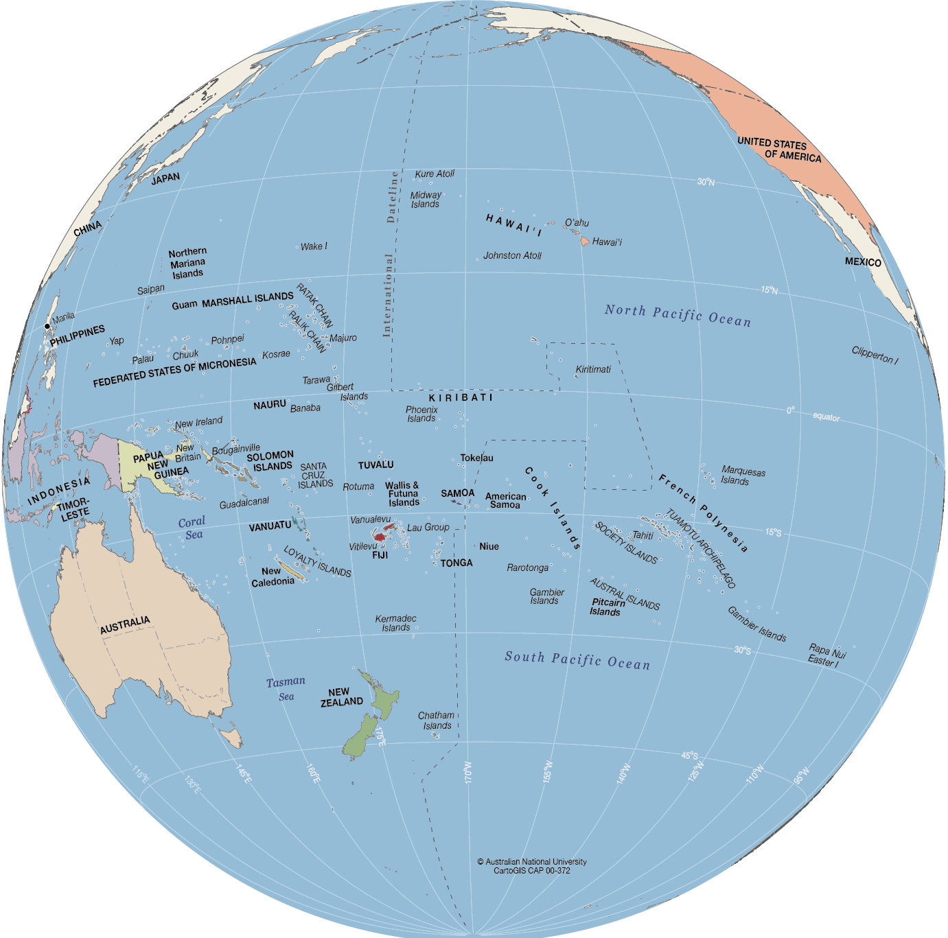 Globe Map Pictures.Pacific Globe Cartogis Services Maps Online Anu
