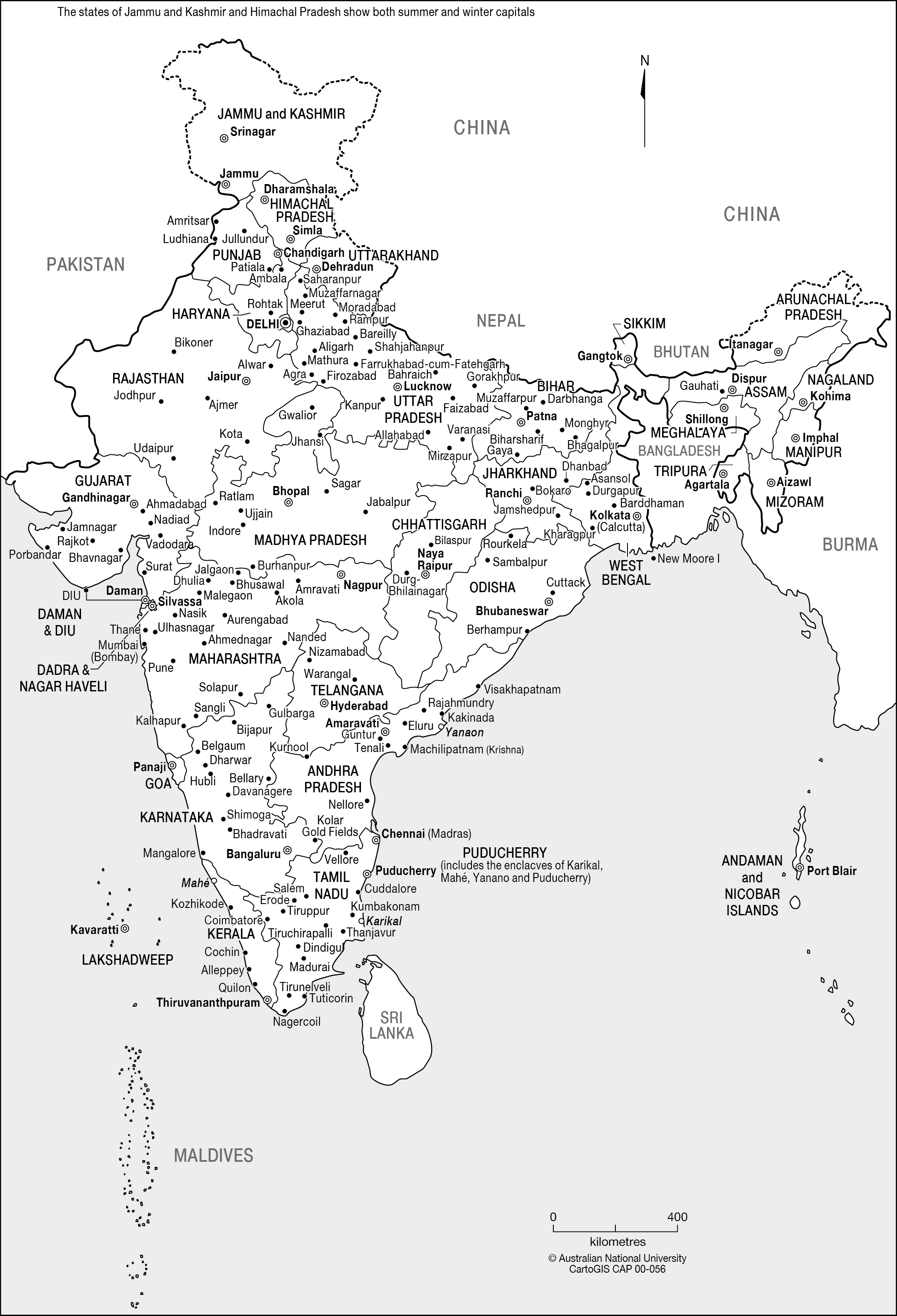 India - CartoGIS Services Maps Online - ANU