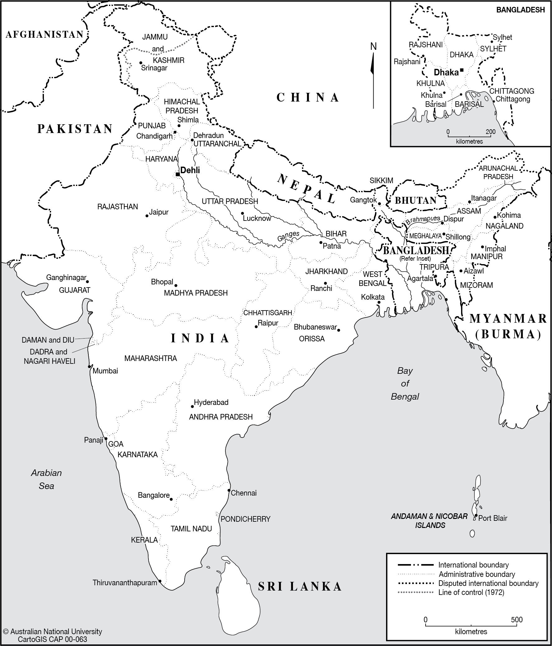India states and capitals - CartoGIS Services Maps Online - ANU on india river map, india south asia map, texas county map black and white, india political map, river clip art black and white, india map with latitude and longitude, india map with city,