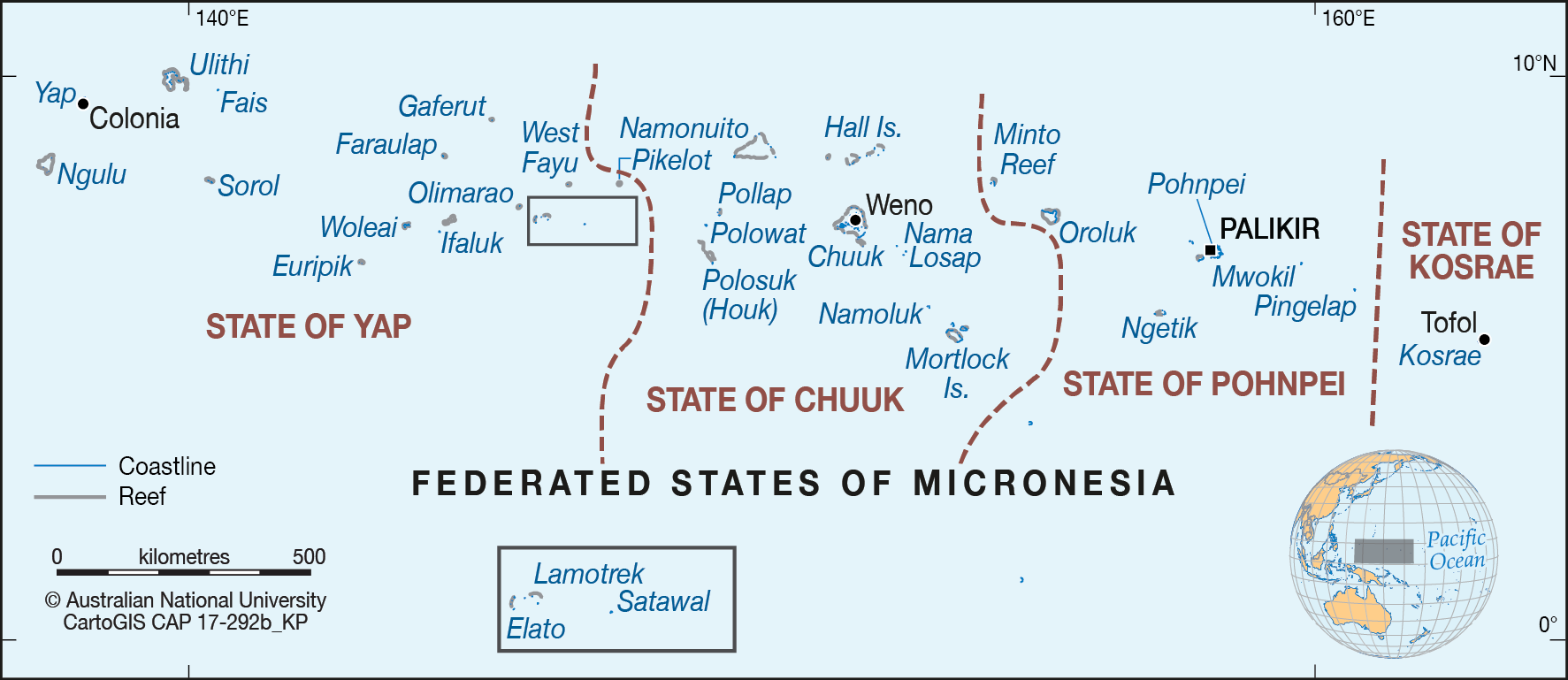 Federated states of micronesia cartogis services maps online anu map png 18292 kb description colour map of the federated states of micronesia publicscrutiny Gallery