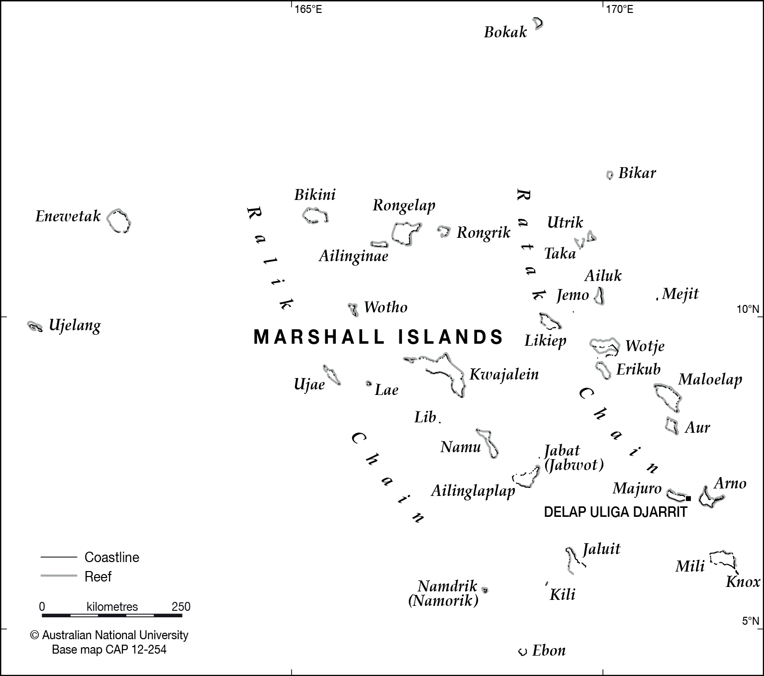 Marshall Islands base - CartoGIS Services Maps Online - ANU