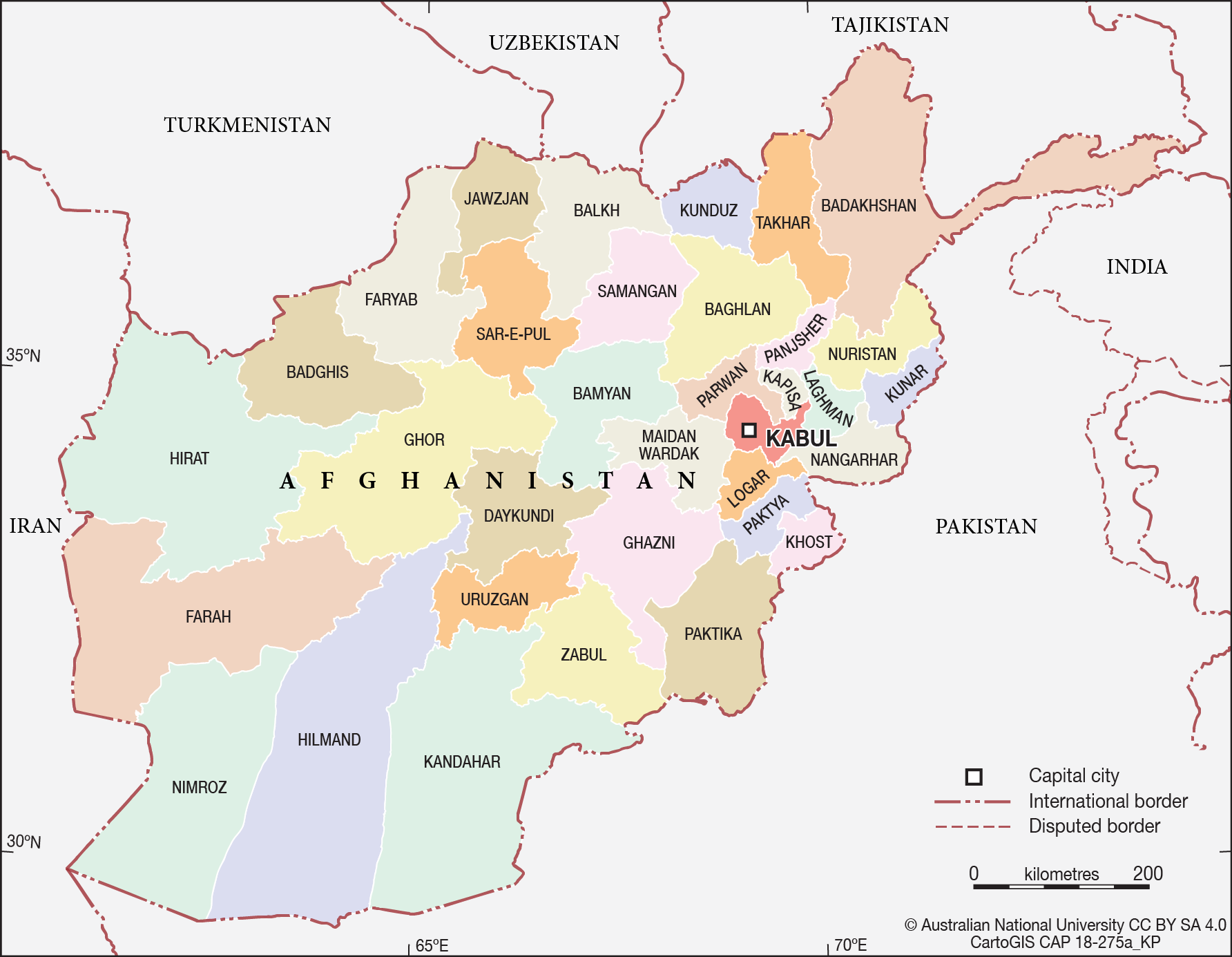 Afghanistan - Provinces - CartoGIS Services Maps Online - ANU on map of vietnam, map of islamic countries, map of netherlands, map of kandahar, map of aden, map of united kingdom, map of africa, map of siberia, map of pakistan, map of hindu kush, map of world, osama bin laden, middle east, saudi arabia, map of jamaica, map of europe, map of kathmandu, map of asia, united states of america, map of kyrgyzstan, map of western hemisphere, map of middle east, sri lanka, map of usa,