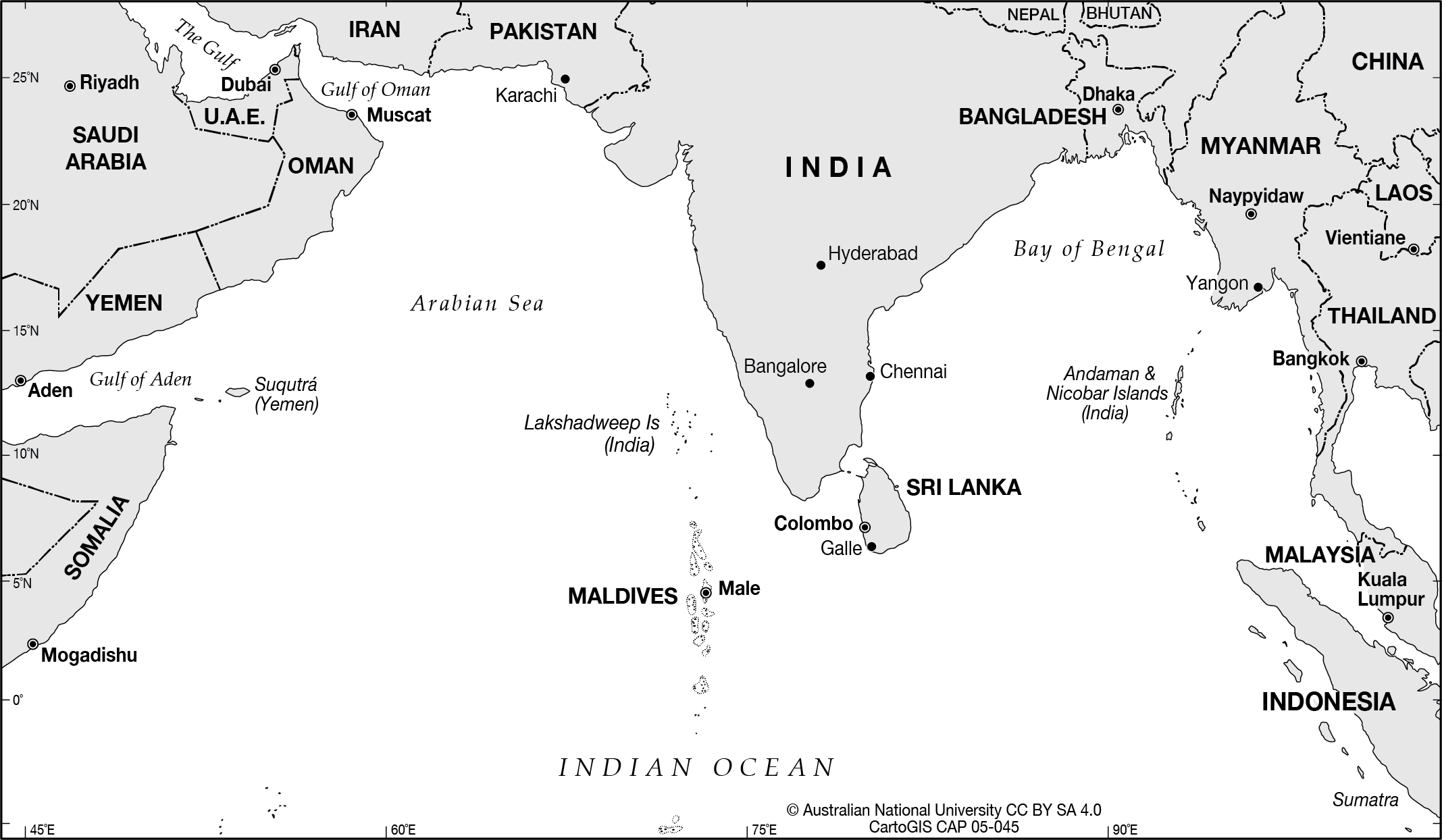 North Indian Ocean - CartoGIS Services Maps Online - ANU on atlantic ocean, korean peninsula map, arabian sea, comoros map, bay of bengal, world map, pacific ocean, persian gulf, silk road, india map, caspian sea, south china sea, middle east map, equator map, christmas island, ukraine map, south america map, china map, africa map, bay of bengal map, cape of good hope map, caribbean sea, mediterranean sea, iran map, pacific map, arctic ocean, australia map, black sea, south asia, java map, latin america map, persian gulf map, arabian sea map, southern ocean, world ocean, asia map, red sea,
