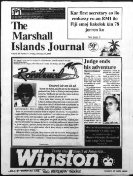 The Marshall Islands Journal, vol. 25, 6-11