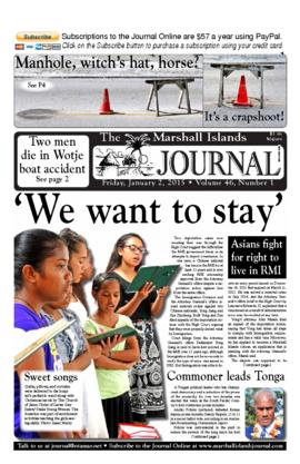 The Marshall Islands Journal, vol. 46, 1-6