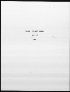 The Marshall Islands Journal, vol.15, 1-14