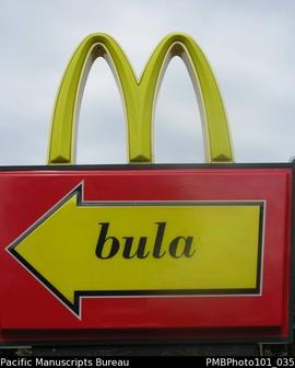 Suva [bula - McDonald's golden arches]