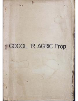 Report Number: 1+A2Gogol R. Agric. Prop. Proposed Agriculture Station Site - Madang District, Sites