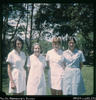 """51. Maisie Tomkins, Eileen Tucker, Sue Stark, Jill Clingan (the 4 sisters) - Graduation day..."
