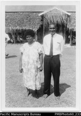 Elder Jimmy Karonqona and wife Lilian Fila Island
