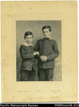 Portrait of Charlie Edward Montgomary and Harold Vivien (younger brother)