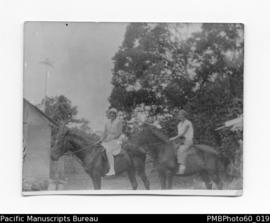 Rio and Miss Lunn (a sister of Mrs Watson) on horseback