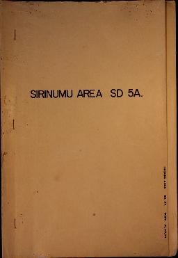 Report Number: 97 Sirinumu Area (SD 5A) Land Inspection, 3pp. With Map Nos.97, 98 & 99. Inclu...