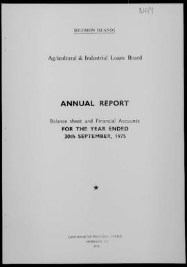 Solomon Islands, Agricultural and Industrial Loans Board (incorporating Small Business Credit Sch...
