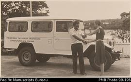 Landrover presented to Vaemali hospital by Leprosy Trust Board