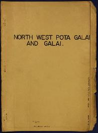 Report Number: 55 Report on the North West Pota Galai and Galai Block, 21pp. Includes map with sc...