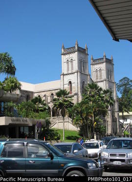 [Suva The Reserve Bank and the Catholic Cathedral]