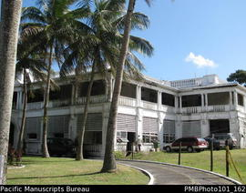 [Suva The Grand Pacific Hotel occupied by the Fiji military]