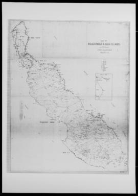 Map of Bougainville and Buka Islands, enlarged from geological map compiled by the Bureau of Mine...
