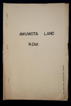"Report Number: 375 Land Inspection: ""Awuwota"", 9pp. Includes map with scale 1""=6 chns"