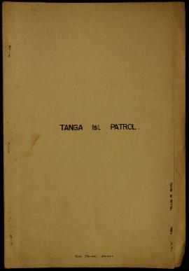 Report Number: 75 Tanga Island Patrol. New Ireland District - Agricultural Patrol to Tanga Island...