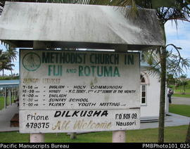 Dilkusha [Notice at Methodist Church in Fiji and Rotuma]
