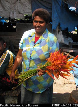 [Flower seller in Nausori Market]