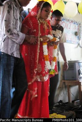 [Suva Wedding  Savita the bride sad to be leaving her home.]