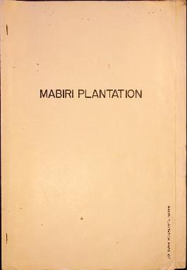 "Report Number: 107 Mabiri Plantation (Bougainville District), 7pp. Includes map with scale 1""= 20..."