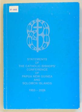 Bound statements of the Catholic Bishops Conference of Papua New Guinea and Solomon Islands