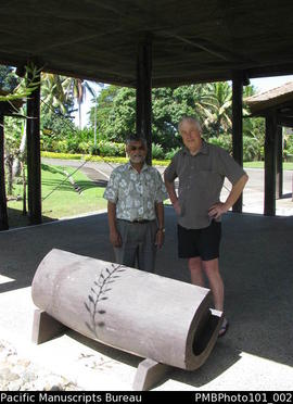 [Suva slit gong at Parliament House opened in 1992.]