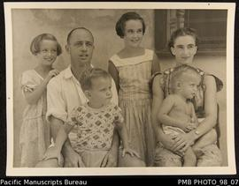 Mr and Mrs Ian Gray and family, Onesua New Hebrides