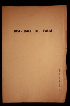 Report Number: 403 Koa-Dagi-Hoskins Oil Palm Areas. [Charts only, marked 'Rep. 404'.]