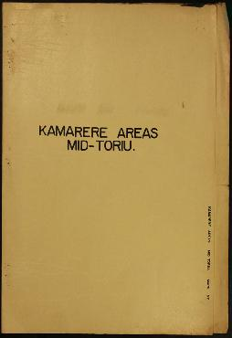 Report Number: 57 Kamarere Areas Mid-Toriu. [Map only.] Includes map with scale 1