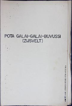 Report Number: 168 Buvussi Pota Galai-Galai Soil Survey. I.S Huria, 'Physiographic Proto-int...