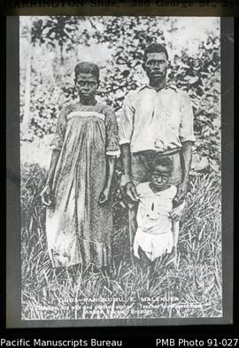 Teacher Stephen, wife and child