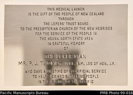 Medical launch plaque