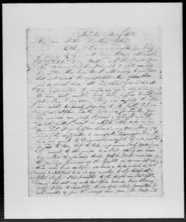 Letter from Rev. John Williams to his family from Raiatea