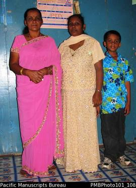 [Suva Wedding Inside the bride's former home, female friends and relatives and boy]