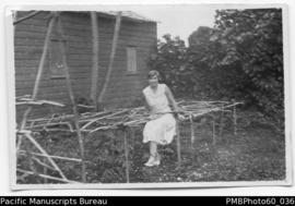 Rita Paton in vegetable garden