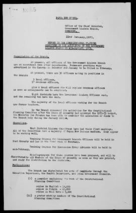 E.P.W. / W.E.T., Office of the Chief Minister, Report to the Constitutional Planning Committee on...