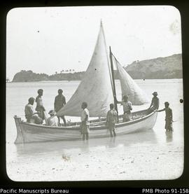 Locals with sailboat