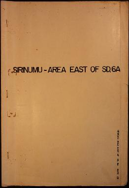 "Report Number: 103 Sirinumu Area East of SD.6A, 2pp. Includes map with scale 1""= c.58 chns"